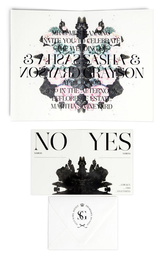 Bliss and Bone wedding invitation suite