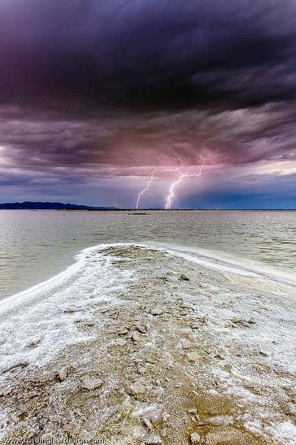 ? Lightning - Great Salt Lake - Utah