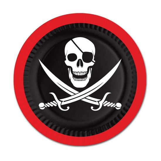 Pirate Plates Party Accessory