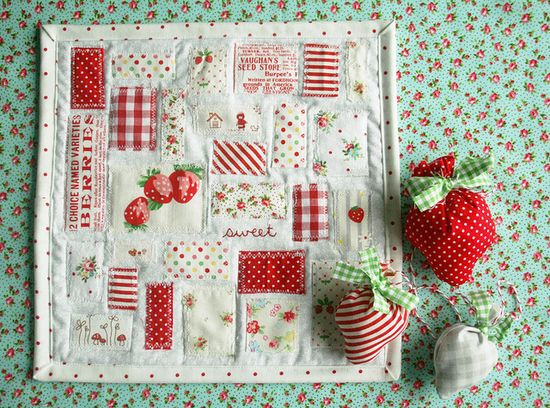 Tiny Red Dotty QUilt
