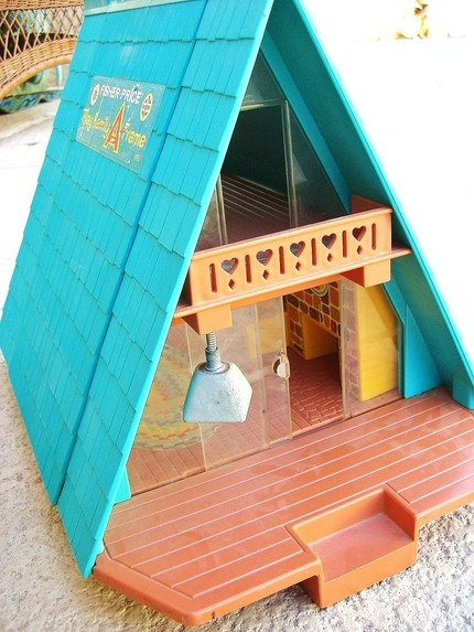 Fisher Price vintage A-frame doll house.
