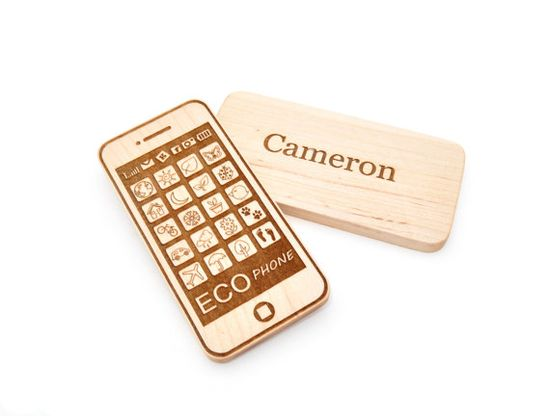 Personalized Phone Toy - Smart Phone Toy - Wooden Toy - Eco Friendly Imagination Toy - Pretend Play for Babies, Toddlers, and Preschoolers on Etsy, $15.00