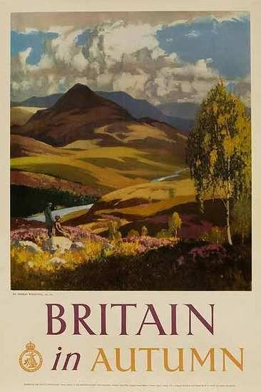 Britain In Autumn Original Travel Poster