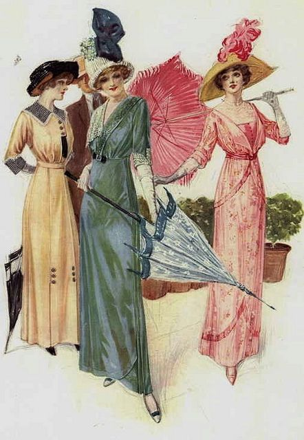 Sweet, summertime perfect fashions from 1912.  #Edwardian #fashion #1910s #vintage #dress