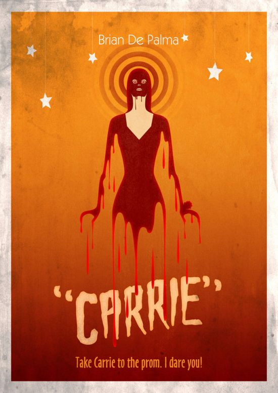 Movie Friday: 10 Alternate Movie Posters for ?Carrie? #movie #poster #design #graphicdesign