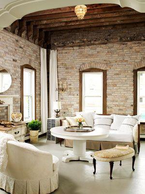 love the brick walls.