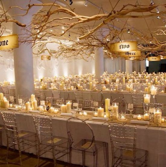 Simple and winter wedding decoration