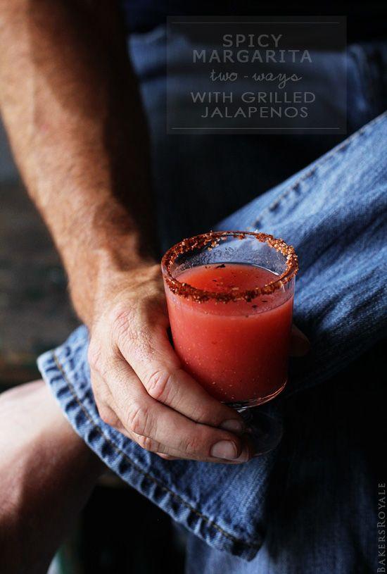Strawberry and Grapefruit Jalapeno Margarita from Bakers Royale #drinks #sips #margarita #strawberry #grapefruit #jalepeno