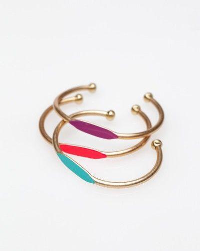 painted brass ID style bracelet from Garnett Jewelry