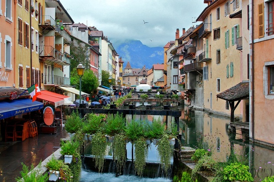 Annecy, affectionately known as the Venice of the Alps, Rhône-Alpes, France