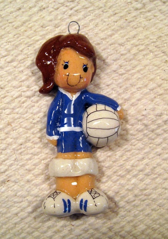 volleyball ornament handmade bread dough by judy by JudyCaron, $15.95