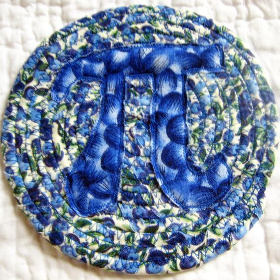 Blueberry Pi Coaster   Fabric Coiled Blue by NewEnglandQuilter, $5.00