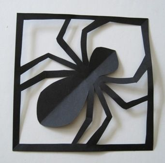 Simple Paper Spider in its Web