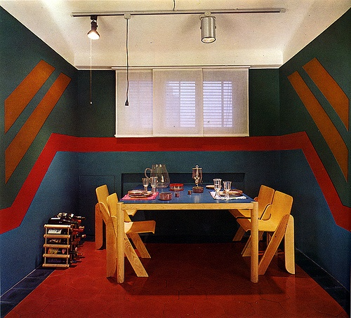 70s wall mural on Curbly