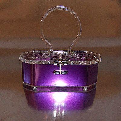 #vintage #Purple #Lucite #Purse #1950s