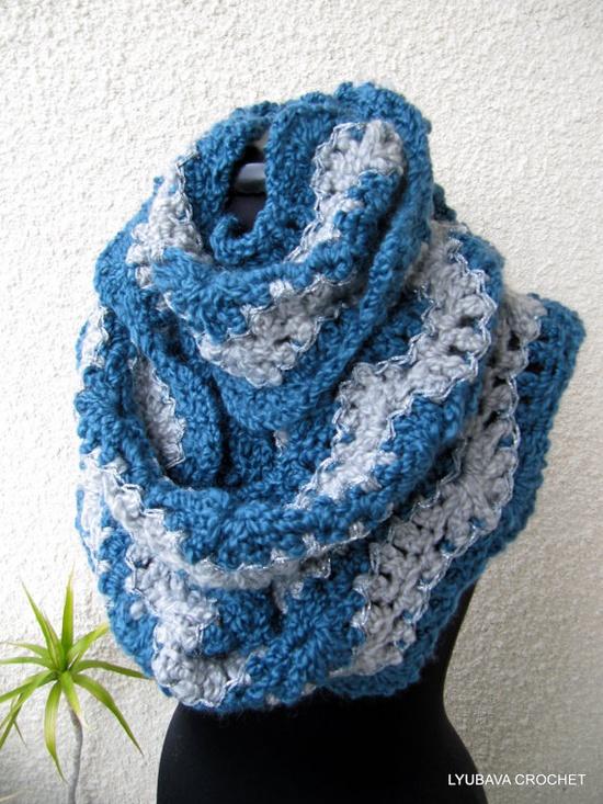 CROCHET INFINITY SCARF Trendy Crochet by LoveCyprusCrochet on Etsy
