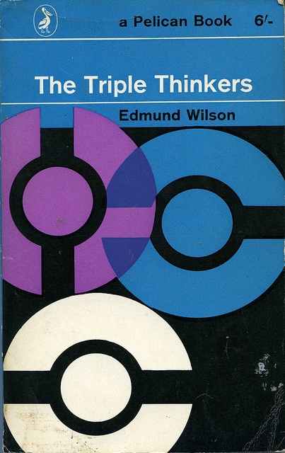 The Triple Thinkers by Edmund Wilson. Cover design by Germano Facetti, 1962