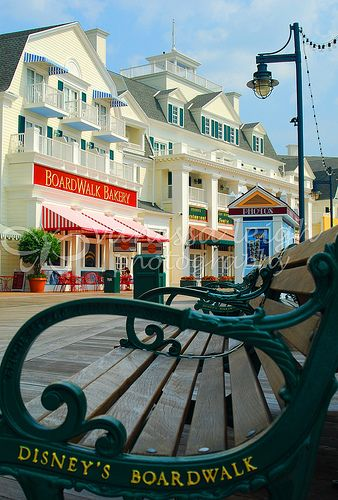 Disney's Boardwalk Resort. Its centrally located to my two favorite parks.