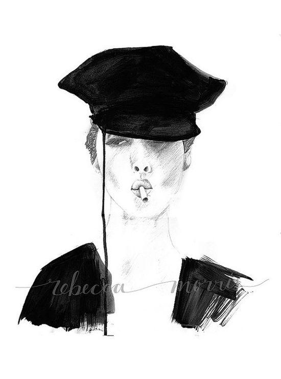 Fashion Illustration by Bec Morris on Etsy
