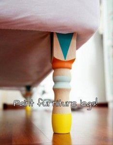 a paint furniture feet
