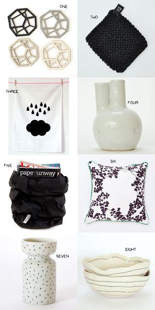 Black + White Inspiration - handmade gifts and homewares. www.koromiko.com
