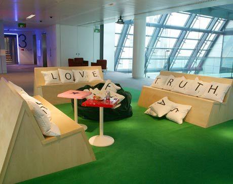 Scrabble throw pillows.  Such a cool idea. Fun for all needs scrabble board rug