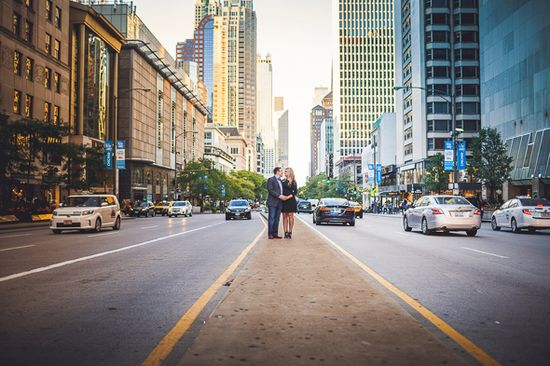 Fun Chicago Engagement Session #engagement #wedding #photography #city #chicago