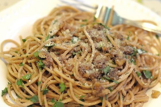 Fork it Over: Anchovy Walnut Pasta  #pasta #recipes #cooking #dinner