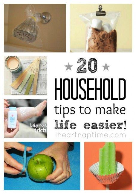 20 household tips to make your life easier - on iheartnaptime.com