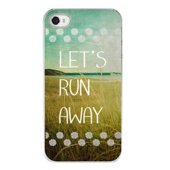 iphone 4s cover with quote  iphone 4 case  beach by joystclaire, $25.00