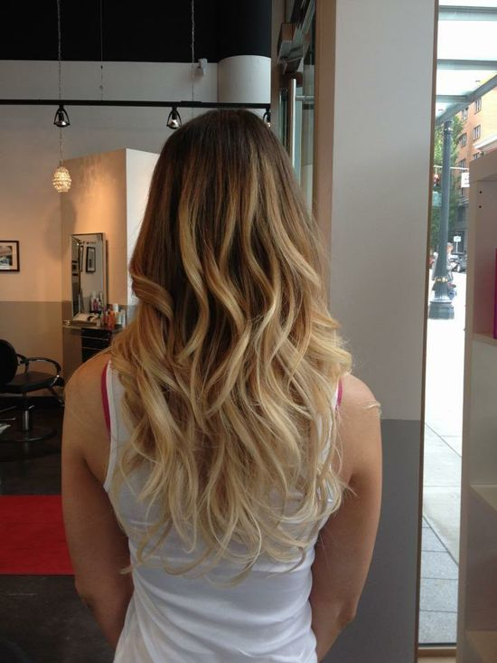 THIS IS EXACTLY WHAT MY HAIR LOOKS LIKE!!!  (Except, my hair color is all natural)  love being blonde!!  :)  ?