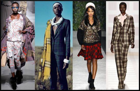 Plaid Fashion, Black Fashion Models