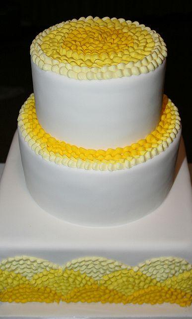 sunshine yellow wedding cake
