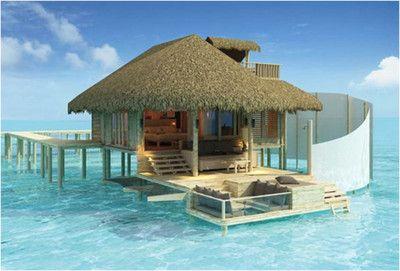 Beach cottage, Maldives