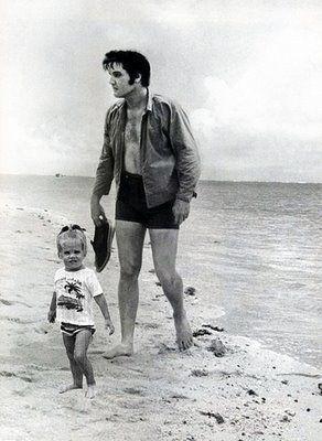 Elvis and Lisa Marie Presley