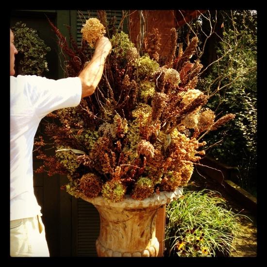 Dried Flower Fall Arrangement