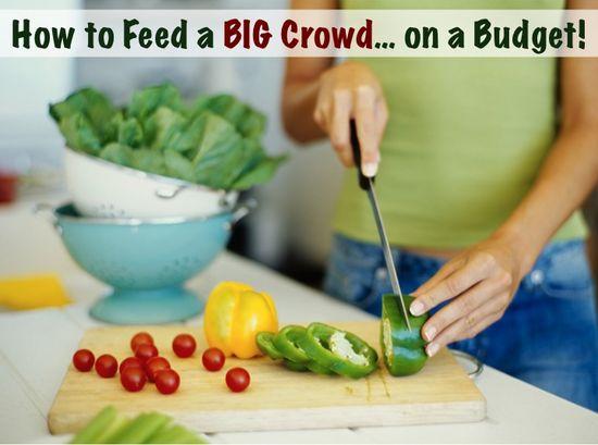 15 Ways to Feed a BIG Crowd on a Budget! via TheFrugalGirls.com
