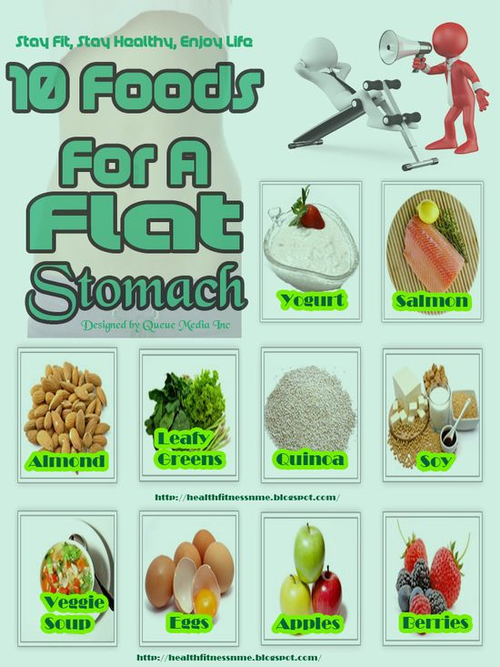 10 Foods For A Flat Stomach #health
