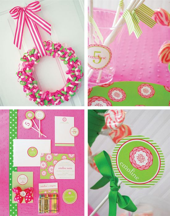 Pink and green party