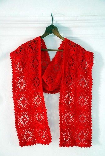 beautiful crochet scarf by Mary5604