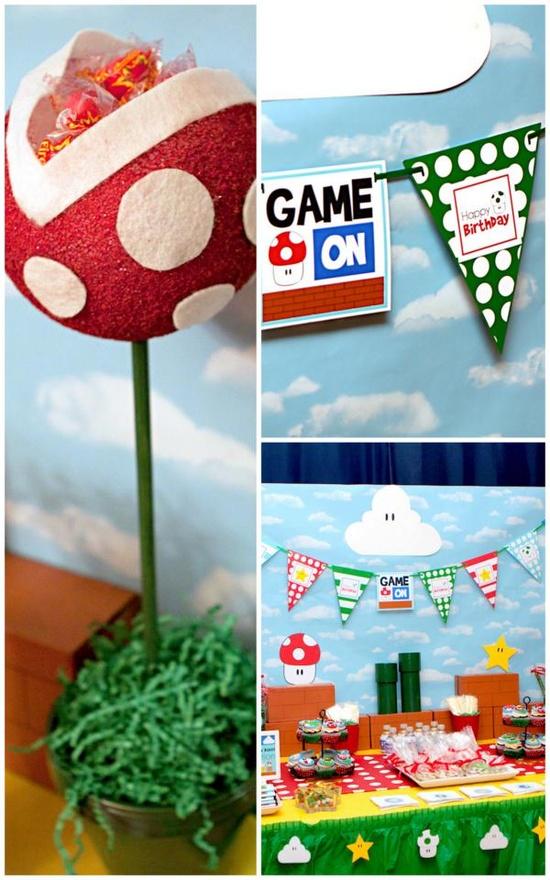 Mario Gamer Party WITH SO MANY IDEAS! Via Karas Party Ideas