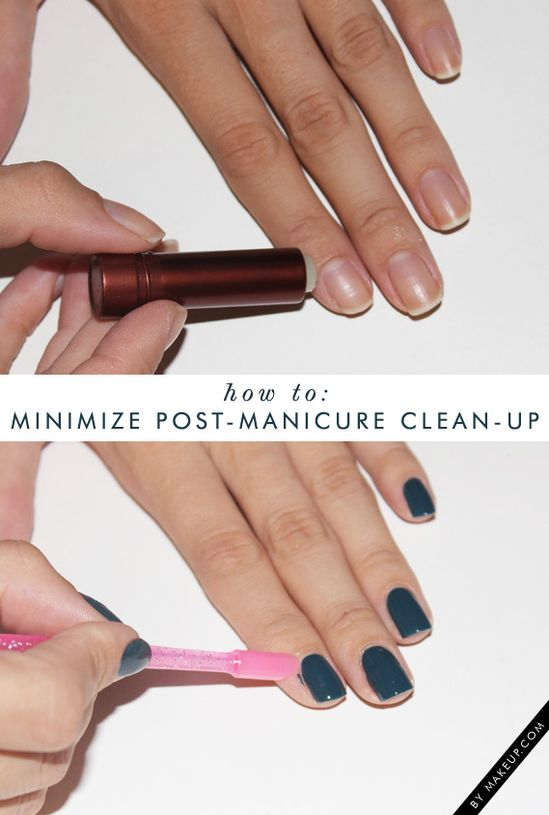 how to: minimize post-manicure clean-up!