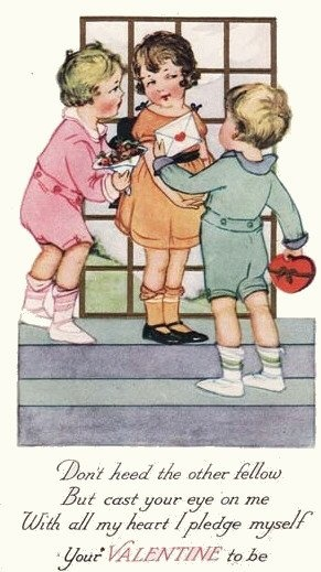 Vintage Valentine 'Don't heed the other fellow...'