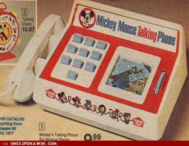 Mickey Mouse talking phone... I had this...