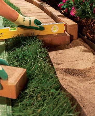 Flower bed border how to.