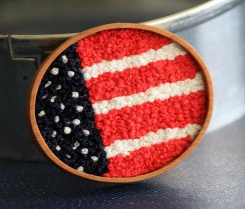 American Flag Brooch #usa #us #4thofjuly #handembroidery #accessory $35.00 #redwhiteblue @Rose Waterrose