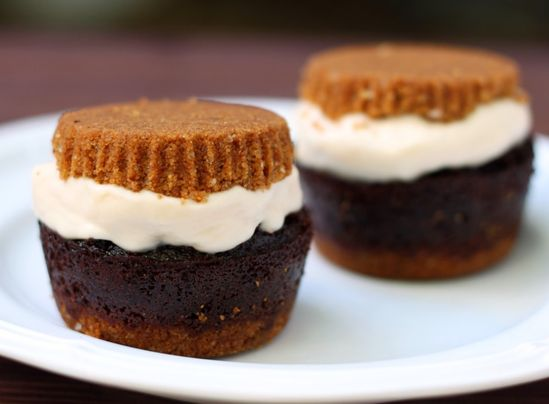 S'Mores Cupcake Ice Cream Sandwich