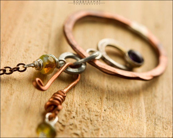 Sterling Silver & Copper Ring Necklace - Jewelry by Jason Stroud.