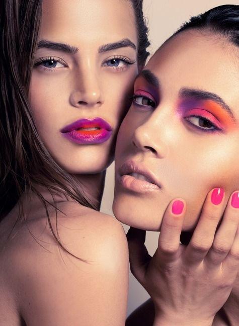 Vivid ombré beauty shoot