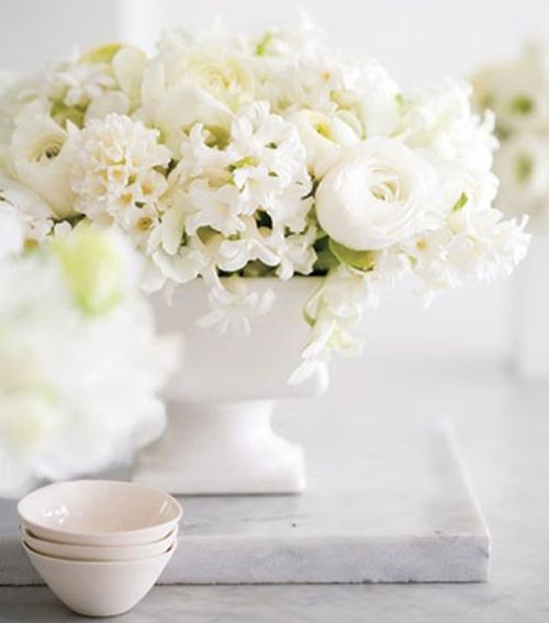 ~ lovely white floral arrangement
